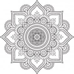 Mandala Floral Tattoo Design Free Vector