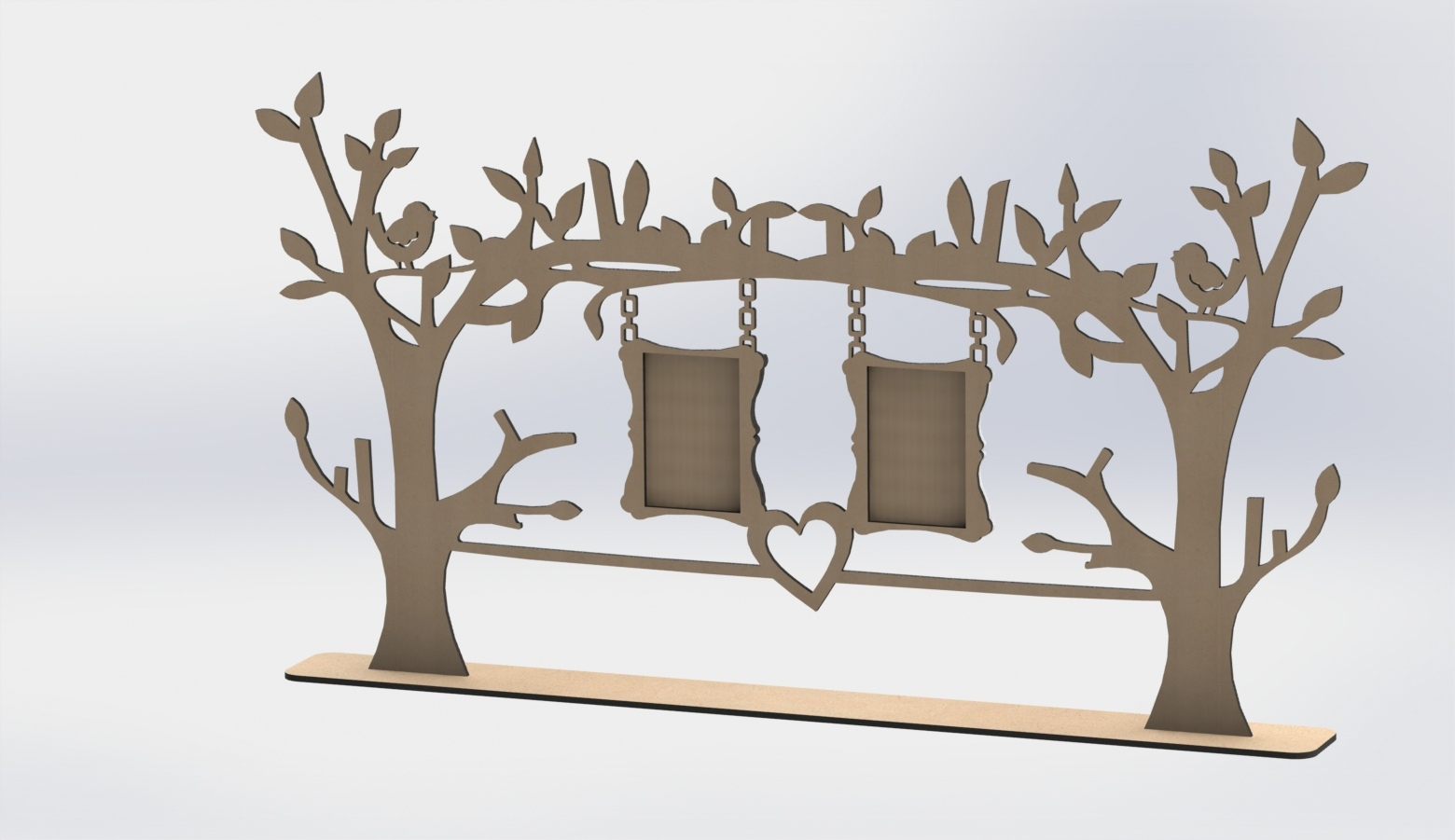 Laser Cut Tree Frame DXF File