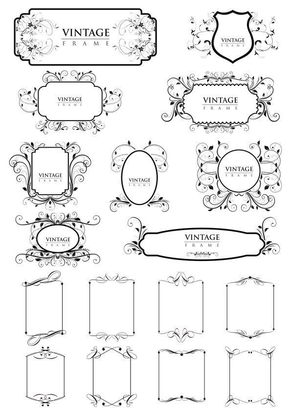 Vintage Frame Borders  Free Vector