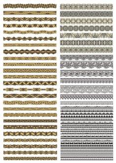 Ornamental Borders Vector Set