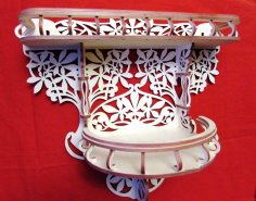 Decorative Flower Shelf Scroll Saw Pattern PDF File