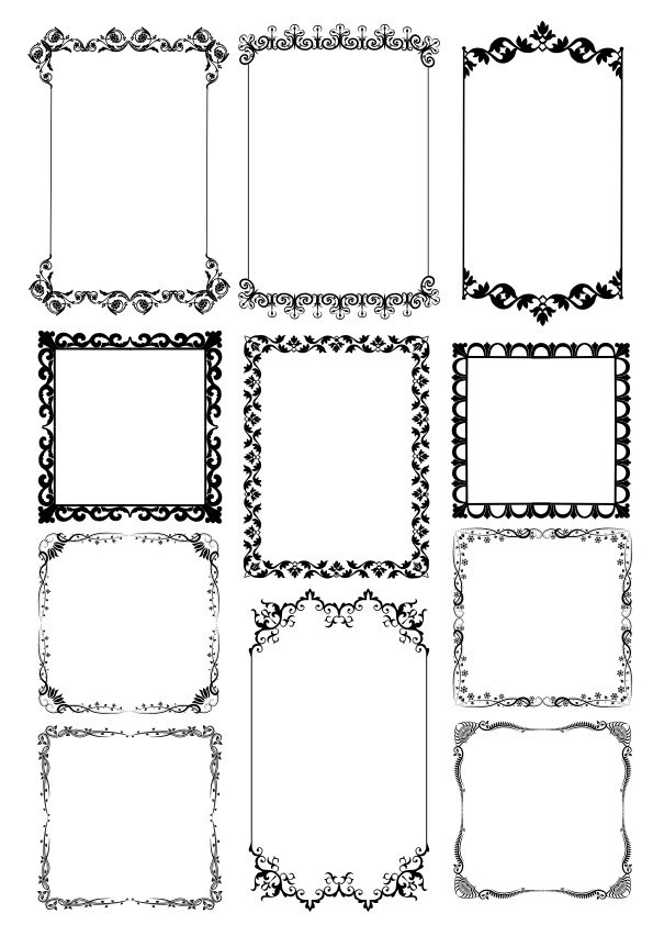 Frame Borders Free Vector