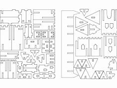 Castillo 3D Puzzle dxf File