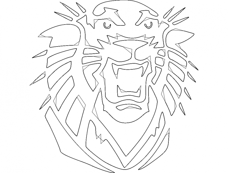 Tiger dxf File