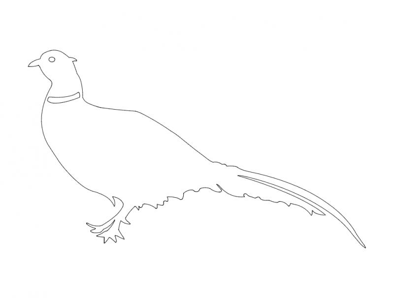 Bird Silhouette dxf File
