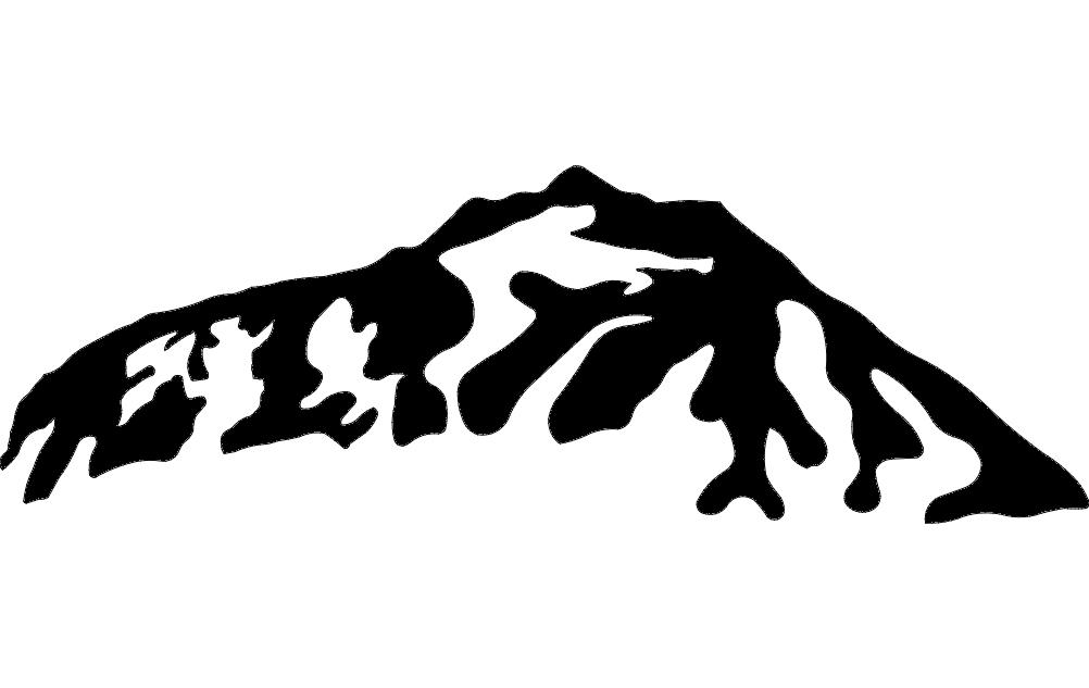 Mountain  4 dxf File
