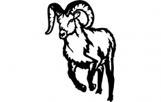 Bighorn Mountain Goat dxf File
