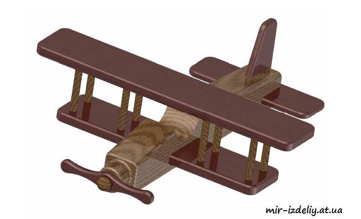 Biplane Kids Toy Plan PDF File