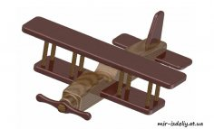 Biplane Kids Toy Plan PDF File