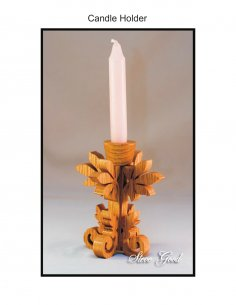 Candle Holder Scroll Saw Plans PDF File