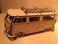 Volkswagen Minibus Laser Cut Free Vector