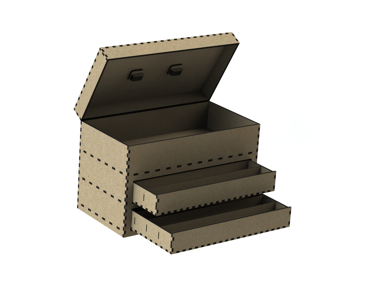 Laser Cut Tool Box DXF File