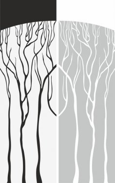 Abstract Old Tree Sandblast Pattern Free Vector