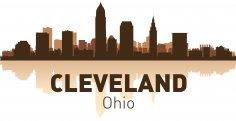 Cleveland Skyline Free Vector