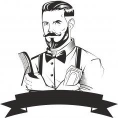 Barber Logo Design Free Vector