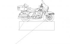 Harley davidson Profile dxf File