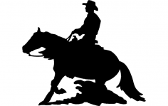 Horse And Cowboy dxf File