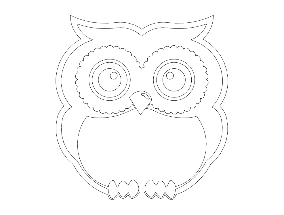 Standing Owl dxf File