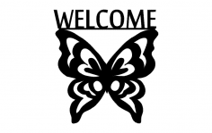 Welcome Butterfly dxf File