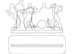 Music Band dxf File
