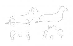 Wienner Dog dxf File