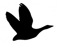 Geese Silhouette dxf File