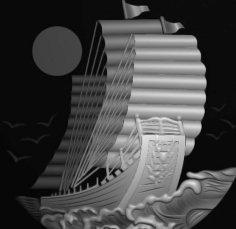 Ship 3D Model for CNC Bitmap (.bmp) file format BMP File