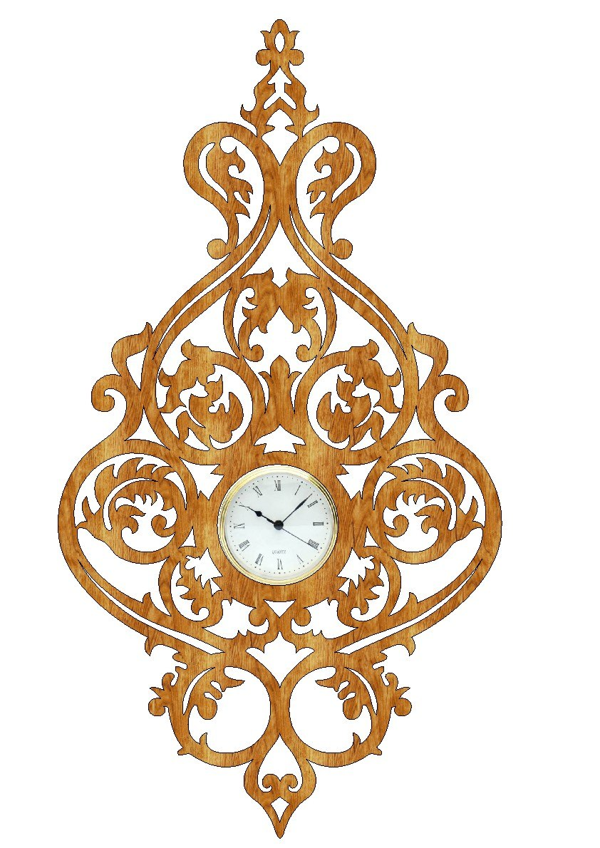 Scroll Saw Clock PDF File