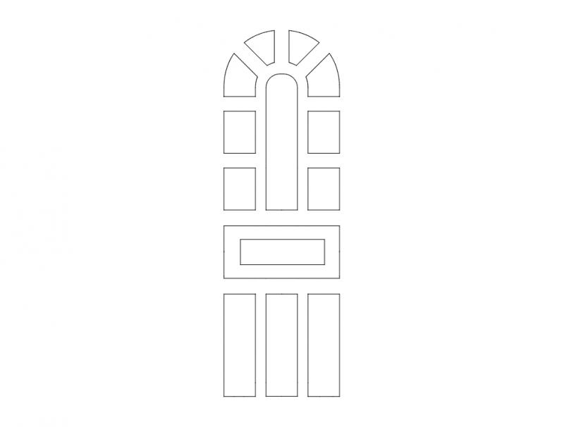 Mdf Door Design 21 dxf File