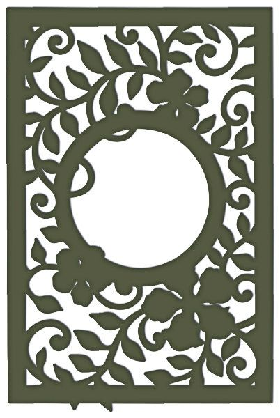 Decorative Leafy Frame dxf File
