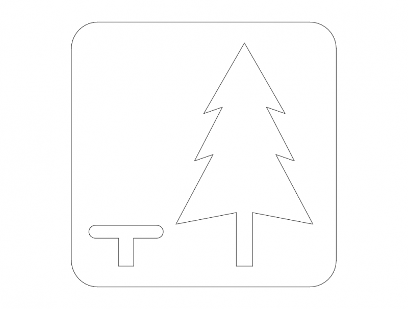 Rest Area Road Sign dxf File