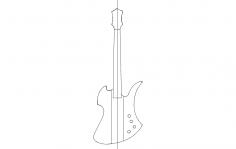 Mockingbird Guitar dxf File