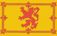 Royal Lion Rampant Scotland Flag dxf File