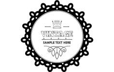 Vintage Card dxf File