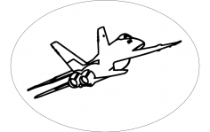 F-18 Aircraft dxf File