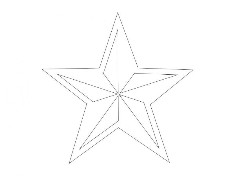 Estrella Nautica (star) dxf File