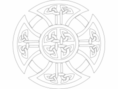 Derby Celtic Cross dxf File