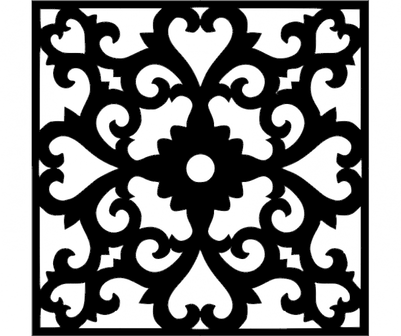 Flower Wall Border Stencil Template Dxf File Free Download