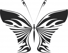 Butterfly Wall decal Free Vector