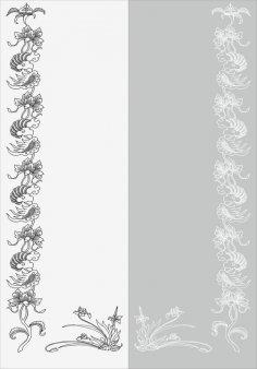 Floral Design Sandblast Pattern Free Vector