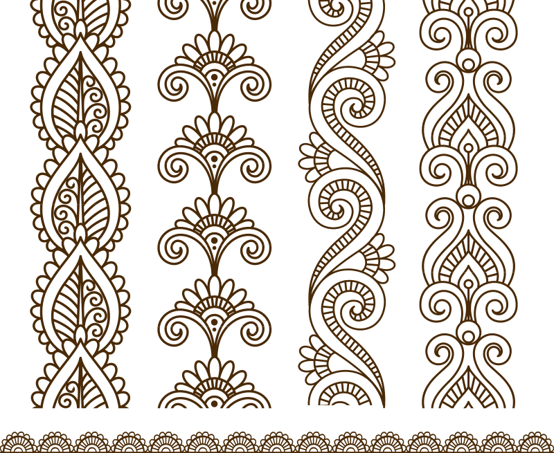 Mehndi style ornamental flower for tattoo Free Vector