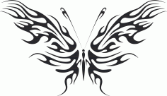 Tribal Butterfly Vector Art 09 DXF File