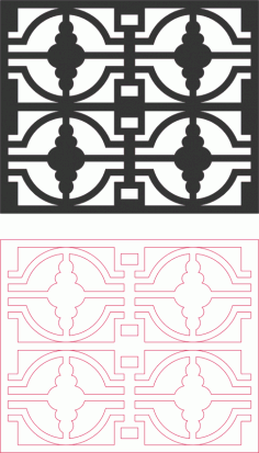 Dxf Grille Pattern Designs DXF File