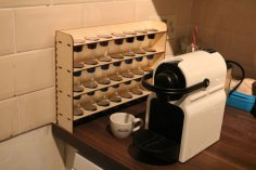 Coffee Pod Rack DXF File