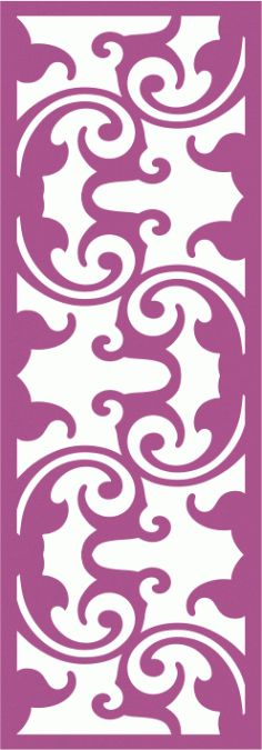 Laser Cut Vector Panel Seamless 166 CDR File