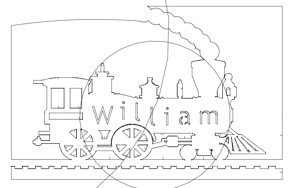 Locomotive William dxf File