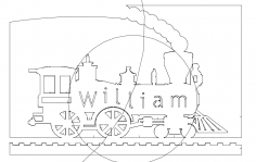 Locomotive William dxf File