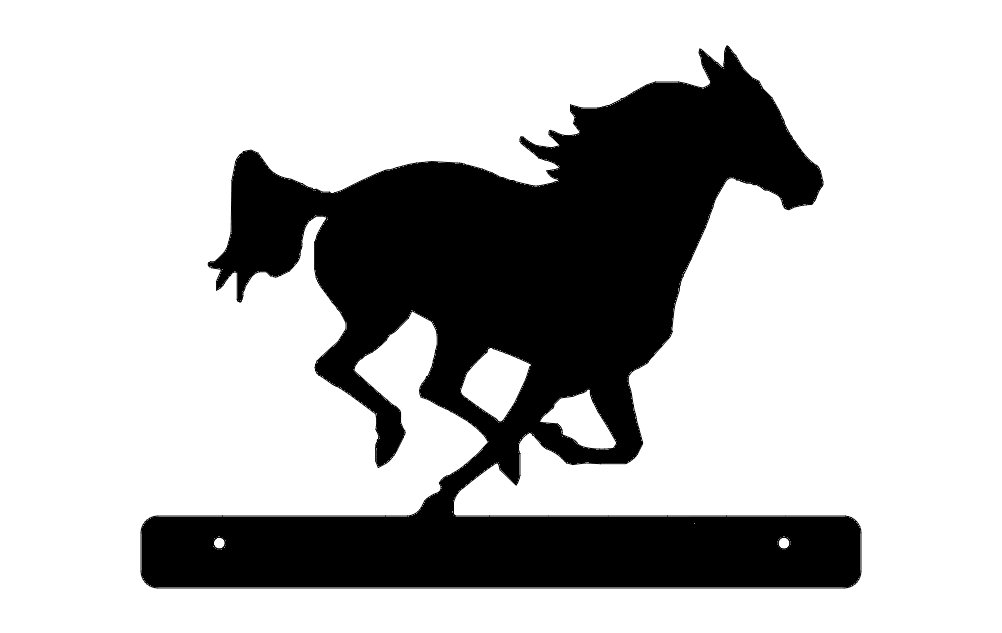 Horse Running Plate dxf File