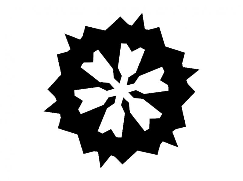 Snowflake Silhouette 3 dxf File