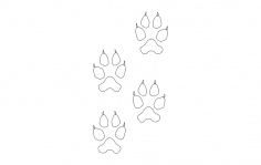 Wolf Tracks dxf File